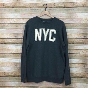 Old Navy Oversized NYC Sweatshirt – Gray – Large